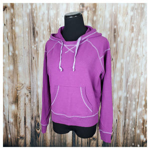 Athleta Cropped Cruiser Stretch Hoodie Purple S